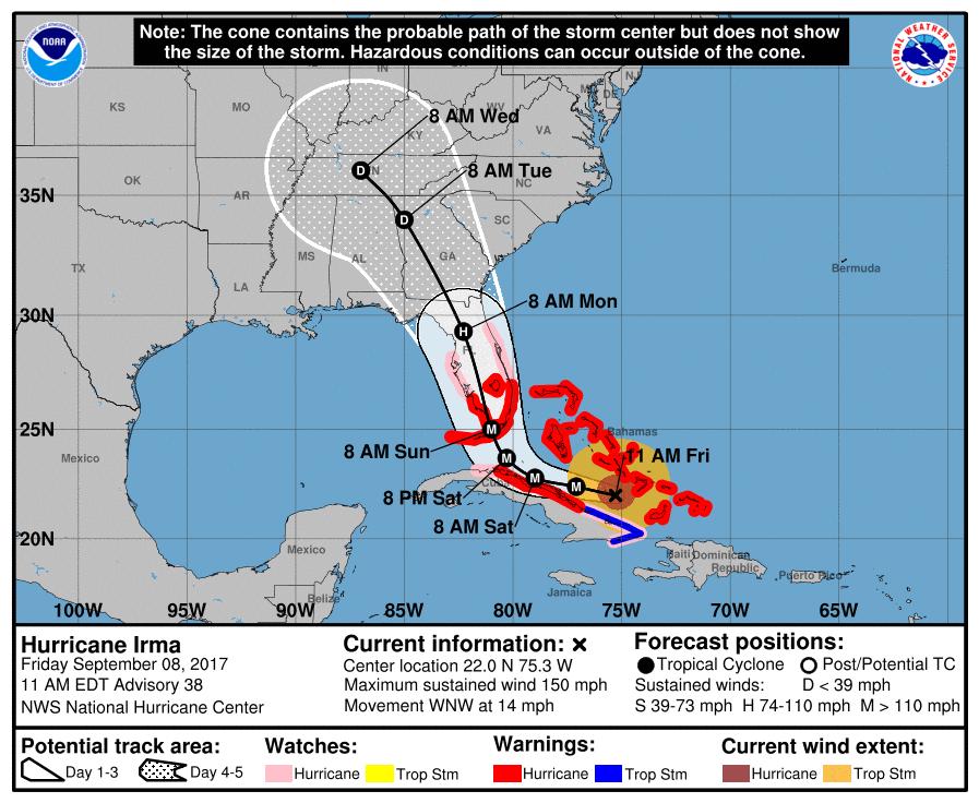 Irmas Track Shifts West Bald Head Island Nc