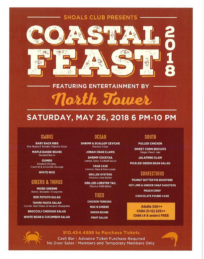 Coastal Feast 2018 At The Shoals Club Bald Head Island Nc